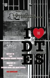 poster for I love the Downtown Eastside event